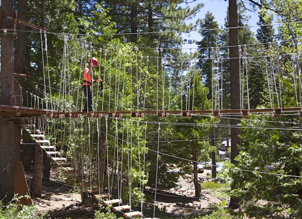 Ropes Course Tests Physical Strength Lake Tahoe