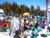 A large crowd turned out to watch the Freeskiing Championships at Kirkwood.