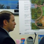 Brandon Hill, project manager of the Edgewood Lodge, listens June 7 to council deliberations. Photo/Kathryn Reed