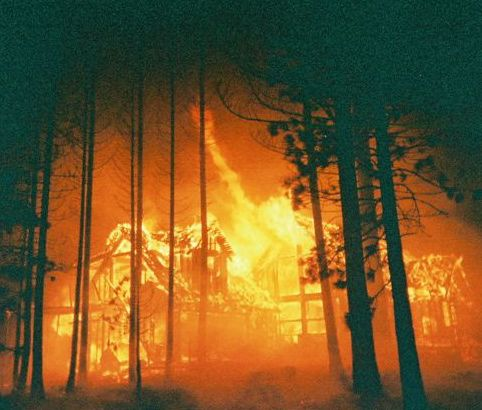 Defensible space can save a house during a fire