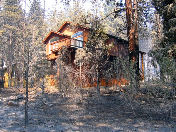 Defensible space can save a house during a fire lake for Building a defensible home