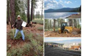 Showcases house planner Jack Thomasson breaks ground at the Truckee site. Photos/HGTV