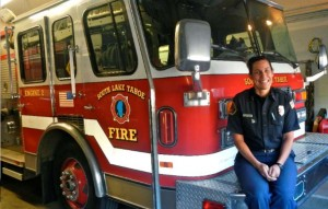 Leslie Asbury is South Lake Tahoe Fire Department's first woman captain. Photo/Kathryn Reed