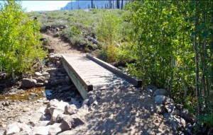 South Tahoe Association of Realtors paid for the bridge that crosses Angora Creek. Photo/Jordan Burge