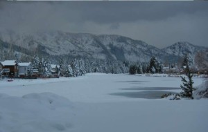 While it looks like winter in Lake Tahoe, California remains parched. Photo/Kathryn Reed