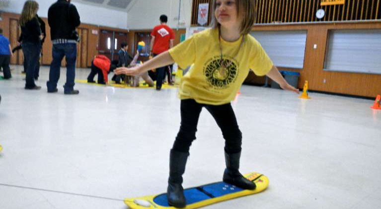 Meyers youngsters learn to snowboard — indoors