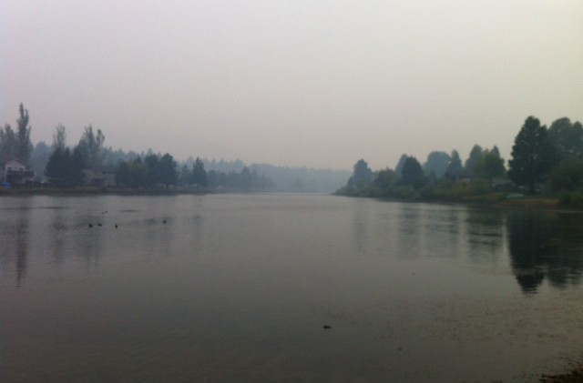 Visibility hampers King Fire, weather helps