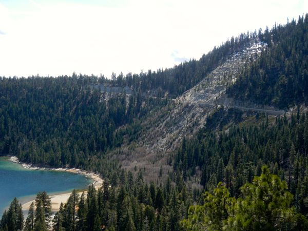 Tahoe piers-drought: Emerald Bay
