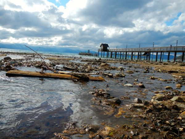 Tahoe piers-drought: Glenbrook