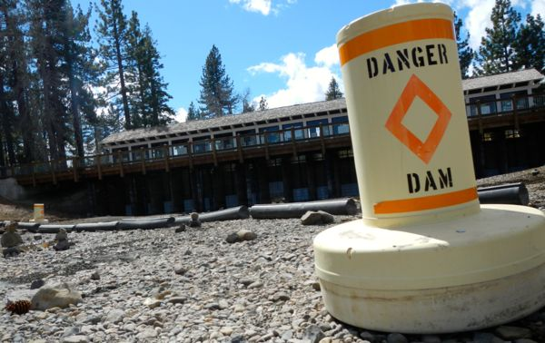 No water is flowing from Lake Tahoe to the Truckee River. Photos/Kathryn Reed