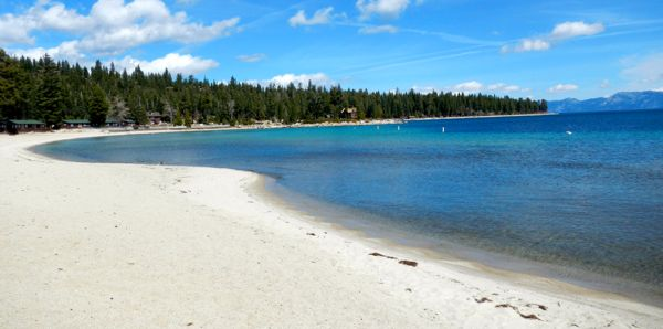 Tahoe piers-drought: Meeks Bay