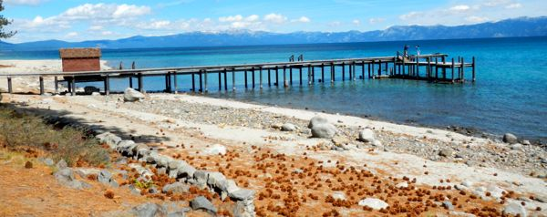 Tahoe piers-drought: Sugar Pine Point