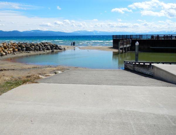 Tahoe piers-drought: Tahoe Vista Recreation Area