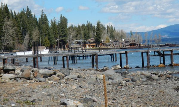 Tahoe piers-drought: West Shore
