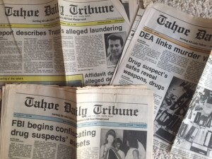 Tahoe Daily Tribune headlines in June 1989 were all about Operation Deep Snow. Photo/LTN