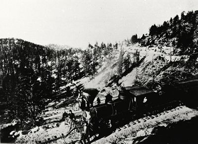 Trains common over mountain passes used to be common in this area. Photo/Lake Tahoe Historical Society