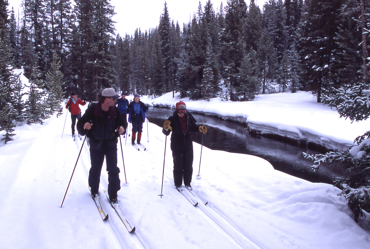 Cross country skiing in most national parks is special experience, especially so in Yellowstone. Photo/National Park Service