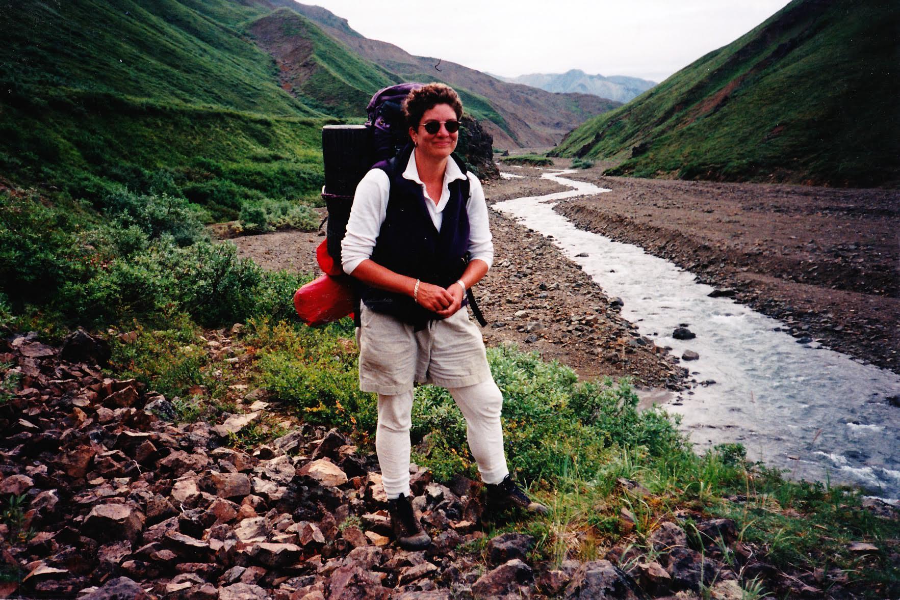 Kim Wyatt backpacks through the wilderness of Denali National Park & Preserve. Photo/Provided