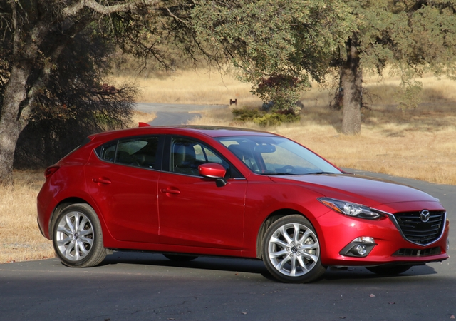 The Mazda 3 six-speed manual -- sporty is, as sporty does. Photos/Larry Weitzman