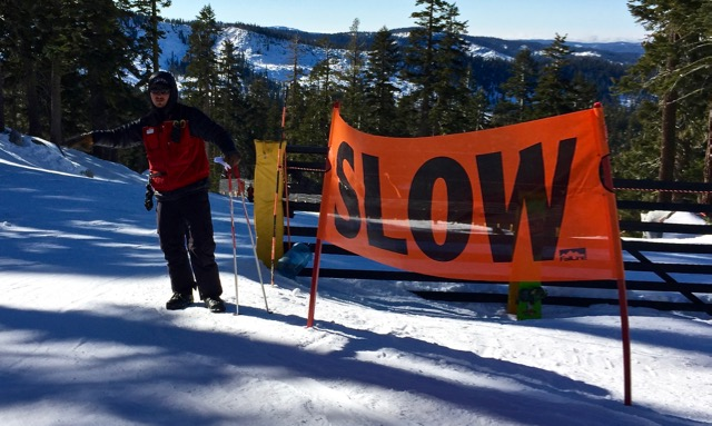 Ski patrollers at Sierra work to slow down skiers/snowboarders who go too fast. Photo/Provided