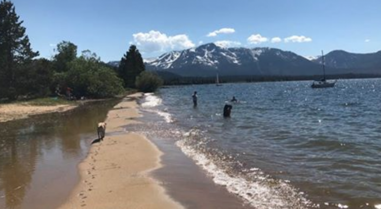 Lake Tahoe water level starting to recede