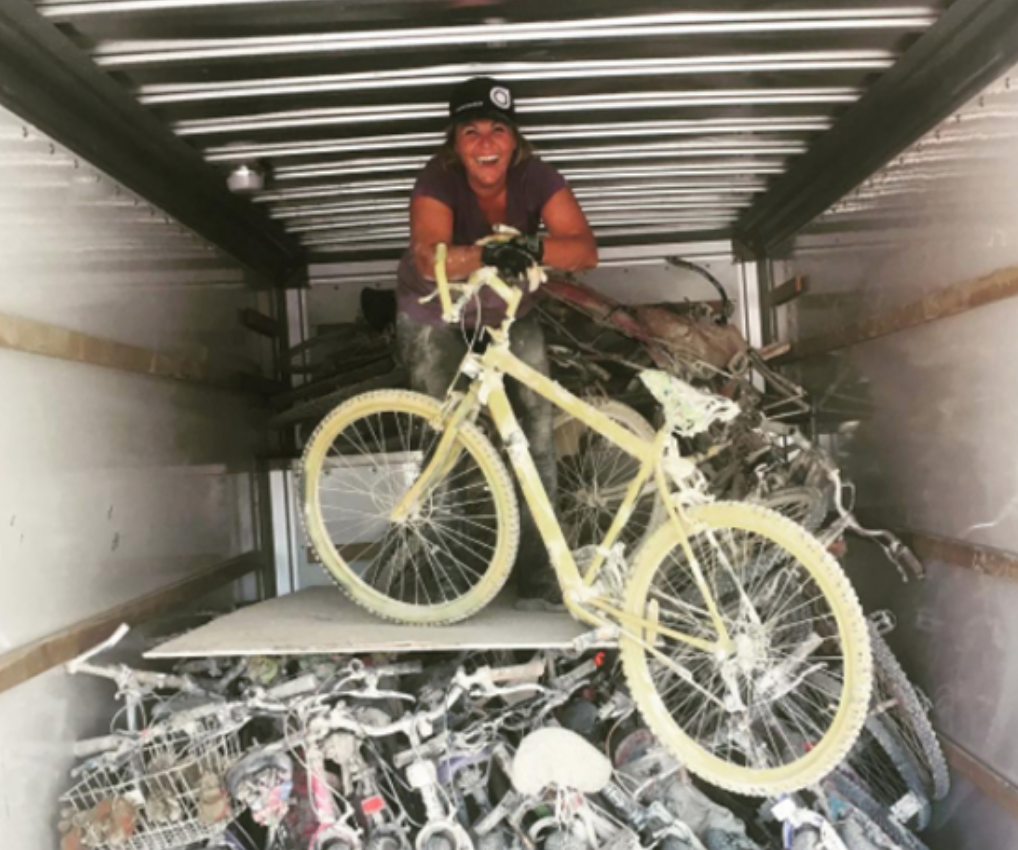 Truckee woman send bikes to hurricane victims
