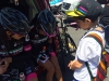 Amgen 2015: Ian Arellano, 10, of South Lake Tahoe gets autographs from Mexico team members. Photo/Susan Wood