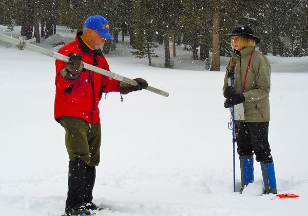 Snowpack water content near Tahoe 158% of normal