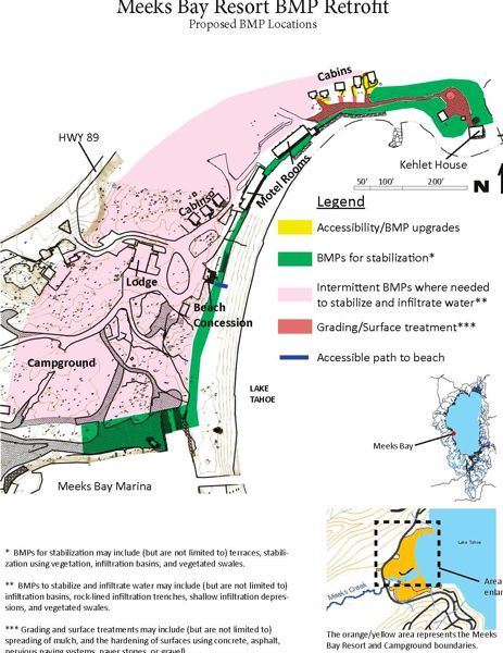 The U.S. Forest Service Has Planned A Number Of Improvements At Meeks Bay  Resort As Shown