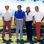 Brooks Park, right, with his golfing buddies at Edgewood Tahoe. Photo/Edgewood Companies