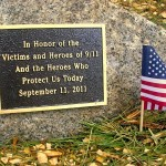 A plaque at LTCC honors those who lost their lives Sept. 11, 2001.