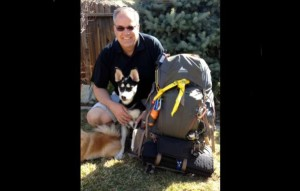 Greg Sly, El Dorado County chief probation officer, is ready to spend more time backpacking with his dog. Photo/Provided