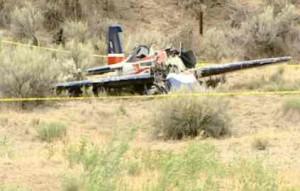 Edward Wilson Claugus of Incline died June 23 flying near the Oregon-Idaho border. Photo/Troy Colson/KTVB-TV