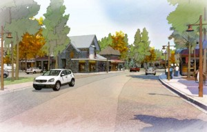 A rendering by Design Workshop of what Tahoe City could look like.