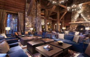 The Ritz-Carlton Bachelor Gulch in Beaver kept the dear above the fireplace even after the remodel this year. Photo/Provided