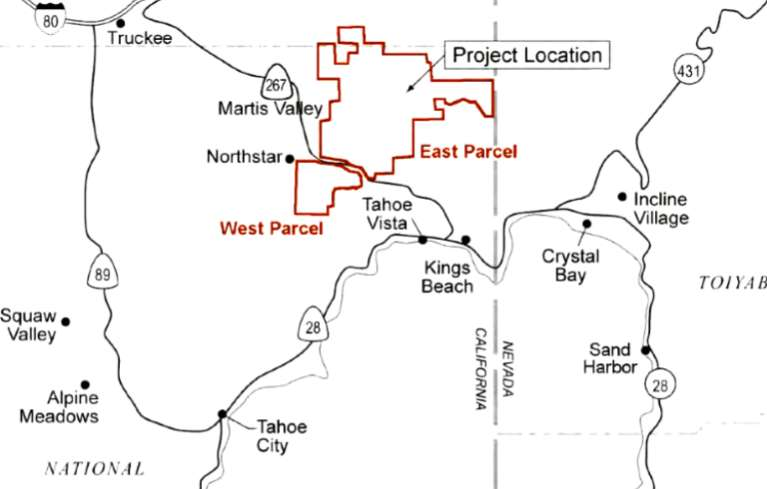 Proposed project sites are outlined in red.