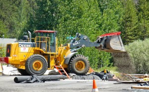Crews work on the Bijou erosion control project. Photo/LTN file