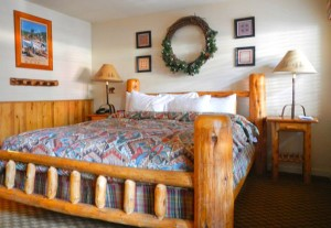 Rooms have a Tahoe-feel to them.