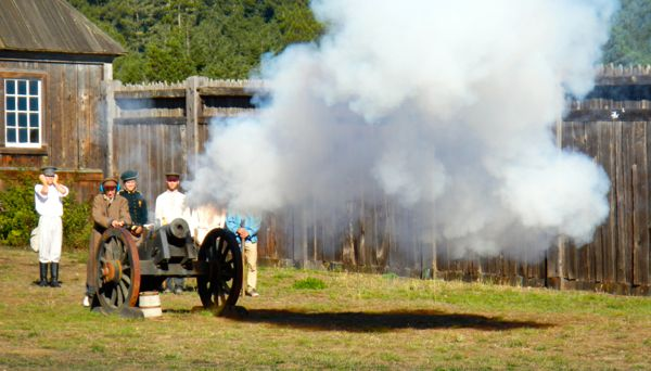 Firing of the cannons is a tradition at Fort Ross. Photos/Kathryn Reed