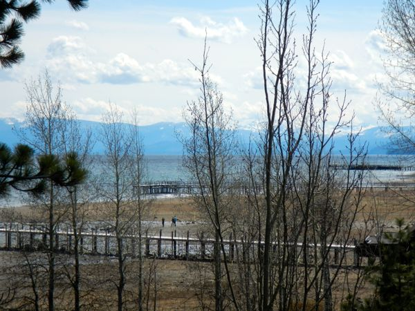 Tahoe piers-drought: Tahoe City