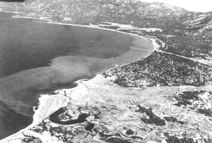 The Upper Truckee Marsh in the 1950s would have have been developed today. Photos/League to Save Lake Tahoe