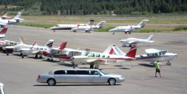 Today Lake Tahoe Airport is busiest during the celebrity golf tournament each July. Photo/LTN file