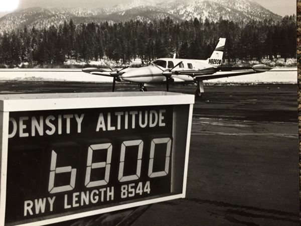 El Dorado County was the first operator of the airport. Photo/South Lake Tahoe
