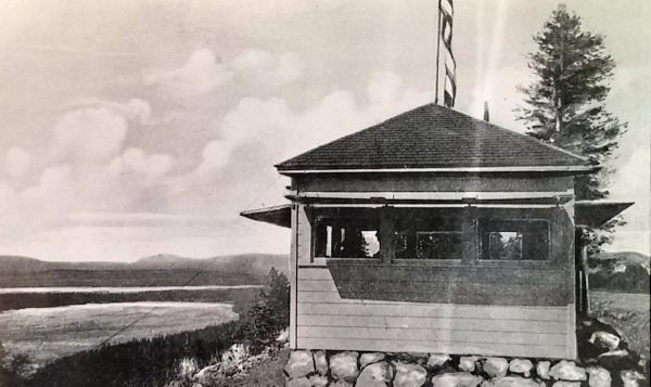 The fire lookout was constructed in the 1920s. Photo/Lake Tahoe Historical Society