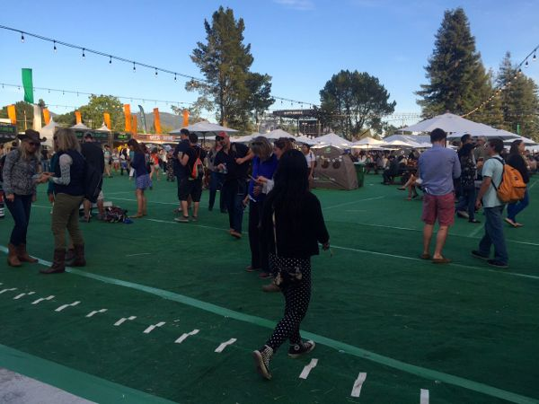 Artificial turf was laid at the Napa County Fairgrounds just for BottleRock. Photo/Susan Wood