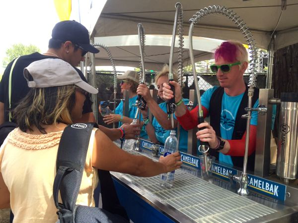 CamelBak's hydration station is as busy as the alcohol booths at BottleRock.