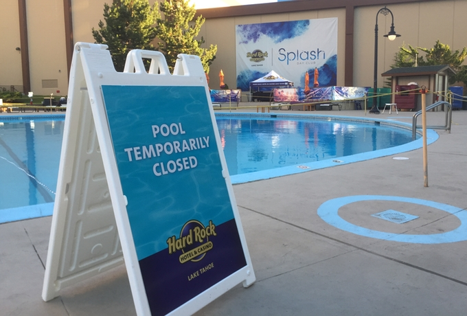 Lake Tahoe Hard Rock's pool is closed until the source of the water is fixed. Photo/LTN