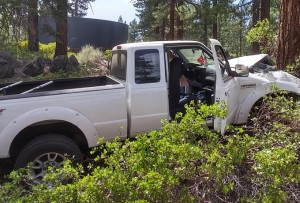 The driver of this truck died hours after being extricated. Photo/Bill Kingman