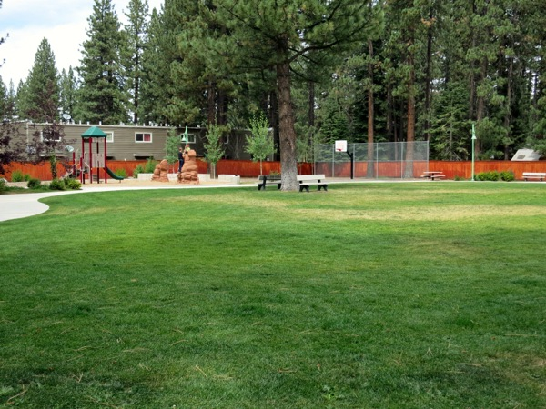 Bonanza Park offers people near the Y a place to play.