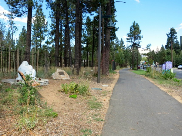 Linear Park parallels Highway 50; providing more than just a sidewalk.